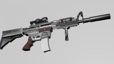 weapon free m4 carbine assault rifle gun games model materials sniper machine torch laser zooming digital modern silencer