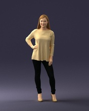 woman sweater 0073 3d print ready 3d scan model polygon 3dprint human male realistic posed character people miniatures man woman child style success outfit fashion