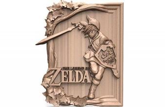 zelda link cnc 4 zelda link cnc relief art deco artcam aspire nintendo videogame
