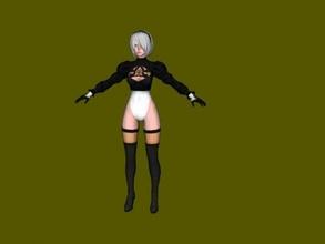 2b stockings free 3d model - download obj file Toys Games