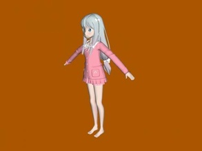 sagiri izumi free 3d model - download obj file Toys Cartoons