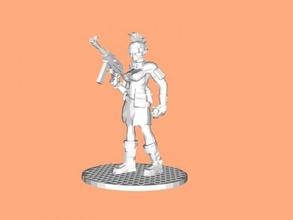 ganger girl free 3d model - download stl file Toys People
