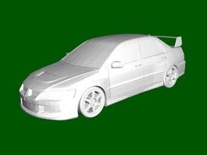 mitsubishi lancero evolución viii gratis 3d modelo descargar stl expediente juguetes maquinaria