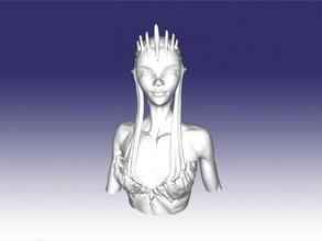 alien girl bust free 3d model - download stl file Toys Cartoons alien girl bust free 3d model - download stl file Toys Cartoons