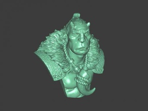 wild orc bust free 3d model - download stl file Toys Cartoons wild orc bust free 3d model - download stl file Toys Cartoons