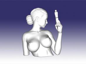 gun girl bust free 3d model - download stl file Toys People gun girl bust free 3d model - download stl file Toys People