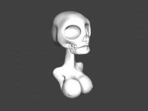 busty skeleton free 3d model - download obj file Toys Cartoons busty skeleton free 3d model - download obj file Toys Cartoons