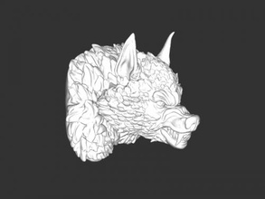 scary werewolf bust free 3d model - download stl file Art Sculpture scary werewolf bust free 3d model - download stl file Art Sculpture