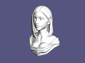 lady bust free 3d model - download obj file Art Sculpture lady bust free 3d model - download obj file Art Sculpture