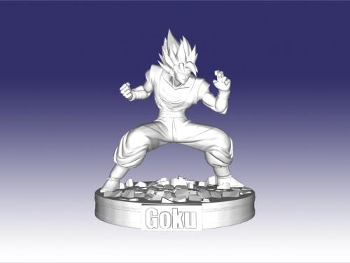 goku free 3d model - down