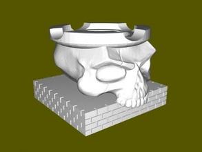 skull ashtray free 3d model - download stl file Home Accessories skull ashtray free 3d model - download stl file Home Accessories