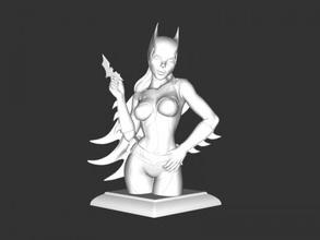 batgirl figurine free 3d model - download stl file Toys Cartoons batgirl figurine free 3d model - download stl file Toys Cartoons