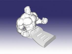 hulk stand free 3d model - download stl file Gadgets Phones