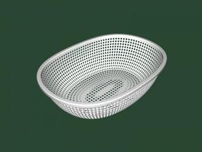 beautiful fruit basket free 3d model - download stl file Home Kitchen