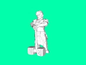 dwarf warrior free 3d model - download stl file Toys Games