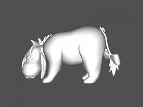 sad donkey free 3d model - download stl file Toys Cartoons