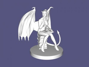 reading succubus free 3d model - download stl file Toys Cartoons