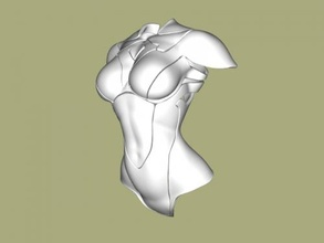 female armor free 3d model - download stl file Toys Weapon