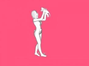 girl cat free 3d model - download obj file Toys People