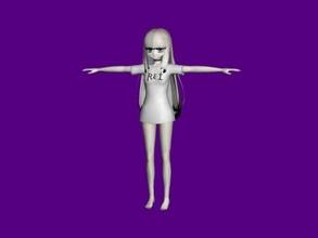 rei hatada free 3d model - download obj file Toys Games
