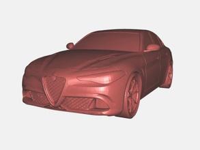 alfa romeo giulia gratuita modello 3d - scaricare il file stl I giocattoli Macchine prestigiosa vettura di classe media file stl