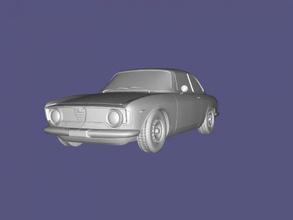 alfa romeo giulia sprint gratuita modello 3d - scaricare il file obj I giocattoli Macchine modello di auto di prestigio 1962 file obj