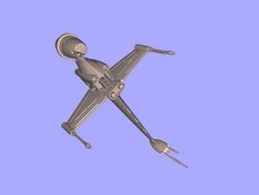 b-ala libre modelo 3d - descargar archivo stl Los juguetes Películas nave espacial de star wars rebel archivo stl