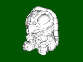 birdle free 3d model - download stl file Toys Cartoons funny mix turtle bird stl file