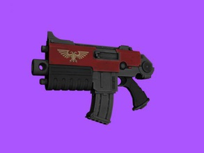 bolter free 3d model - download obj file Toys Games standard weapon chaos space marines obj file