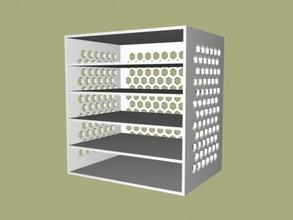 casella di carte gratuita modello 3d - scaricare il file stl Casa Interni pratico box documenti di alcuni scaffali file stl
