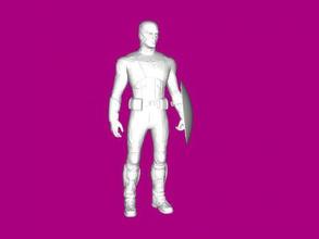 capitan america 2012 free 3d model - download stl file Toys Films figure avengers 2012 stl file