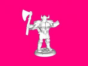 el caos guerrero gratis modelo 3d - descargar archivo stl Los juguetes Juegos poderoso guerrero ax archivo stl