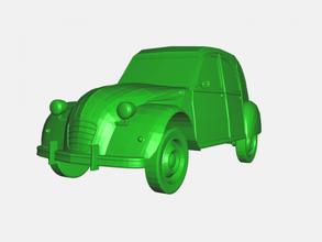 citroen 3cv free 3d model - download stl file Toys Machinery old car stl file
