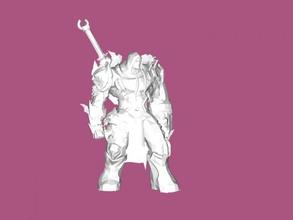darksiders guerreiro livre modelo 3d - download de arquivo stl Brinquedos Jogos poderoso guerreiro armas arquivo stl