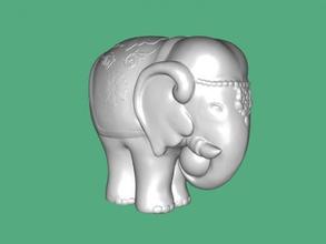 fil Heykeli free 3d model download stl dosyası Oyuncaklar Hayvanlar heykelcik sevimli fil dosya stl
