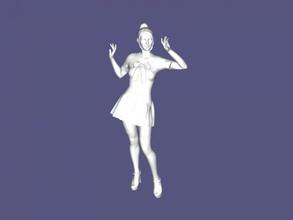 européenne écolière gratuit modèle 3d - téléchargement de fichier stl Les jouets Personnes belle fille uniformes de fichier stl