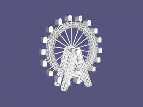 ferris wheel free 3d model - download stl file Art Architecture quality wheel model stl file