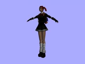 goth écolière gratuit modèle 3d - télécharger le fichier obj Les jouets Personnes fille style rock fichier obj