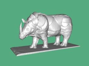 büyük gergedan ücretsiz 3d model download stl dosyası Oyuncaklar Hayvanlar Heykeli büyük hayvan dosya stl
