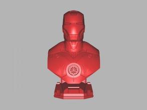 iron bust free 3d model - download stl file Toys Films iron man avengers stl file