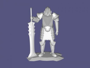 demir şövalye ücretsiz 3d model download stl dosyası Oyuncaklar Çizgi film Heykeli şövalye zırhı dosya stl