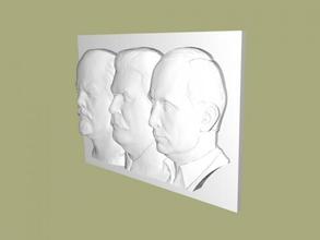 lenin-stalin-putin gratuita modello 3d - scaricare il file stl Casa Interni immagine facce file stl