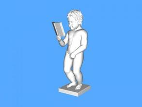 Avrupa Parlamentosu heykelcik free 3d model download stl dosyası Sanat Heykel çocuk kitabı dosya stl