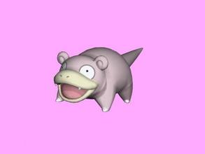 slowpoke gratuita modello 3d - scaricare il file obj I giocattoli I cartoni animati pokemon acqua-tipo mentale prima di pok mon file obj
