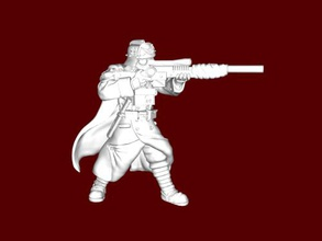 sniper warhammer free 3d model - download stl file Toys Games warrior order death korps krieg stl file