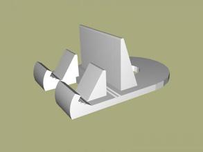 universal soporte de teléfono gratuito del modelo 3d - descargar archivo stl Los Gadgets Los teléfonos multifuncional stand modernos aparatos de archivo stl