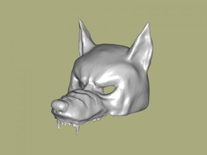 wolf mask free 3d model - download stl file Fashion Ornaments scary masks carnival stl file