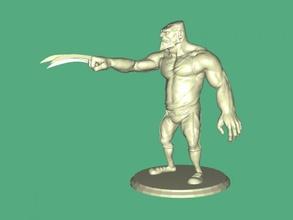 wolverine Heykeli free 3d model download stl dosyası Oyuncaklar Çizgi film heykelcik adam al x dosya stl pençeleri