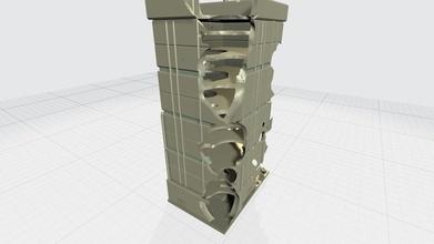 mhb05f mecha sci fi Torre conseguenze modello scena apparecchio scifi spazio robot mecha gundam gunpla trasformare modello giocattolo passatempo battaglia scena edificio Torre Fai passatempo Fai