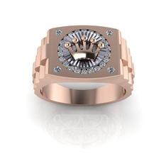 007 - ring king gold ring jewelry jewellery rosegold goldring cad 3d rhino matrix cadwork rings